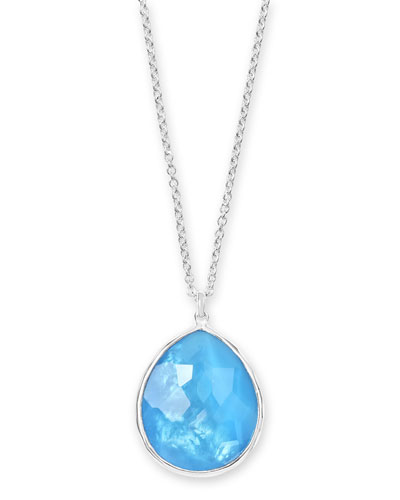 Wonderland Large Pendant Necklace in Ice