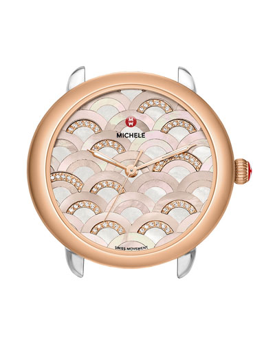16mm Serein Diamond Mosaic Watch Head, Rose Gold
