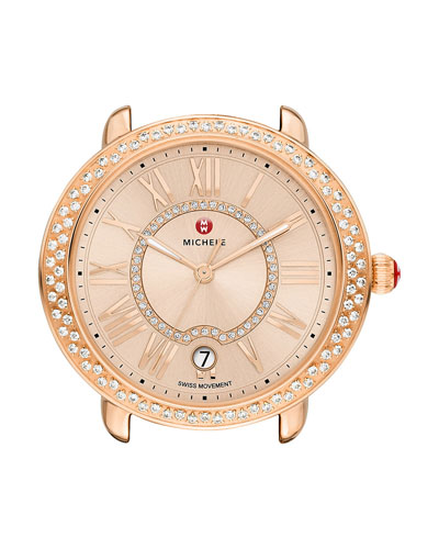 16mm Serein Diamond Watch Head, Rose Gold
