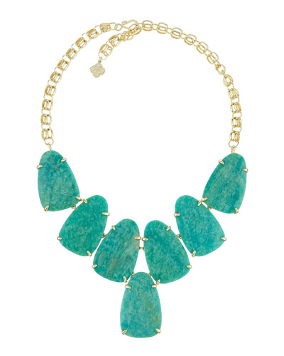 Harlow Amazonite Statement Necklace