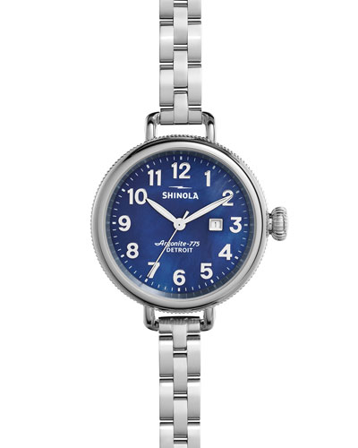 34mm Birdy Bracelet Watch, Navy