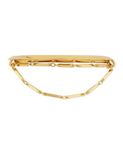 Peaked Chain Cuff Bracelet