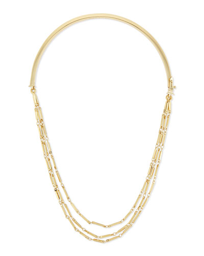 Peaked Chain Collar Necklace