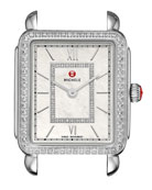 18mm Deco II Diamond Watch Head, Silver