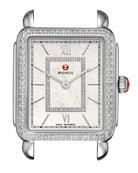 MICHELE 18mm Deco II Diamond Watch Head, Silver