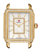 18mm Deco II Diamond Watch Head, Gold
