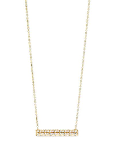 Pavé Diamond Bar Roll Necklace