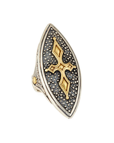 18K Marquise Cross Ring