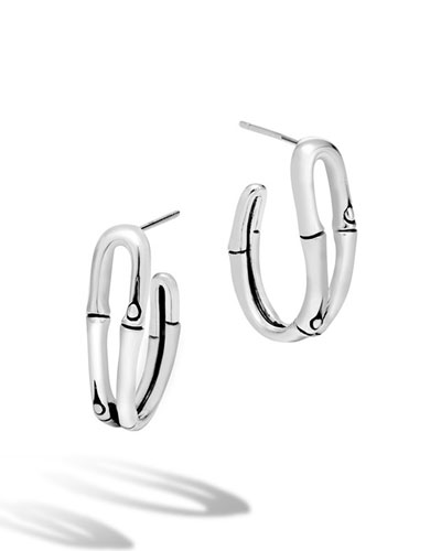 Bamboo Small Looped Hoop Earrings