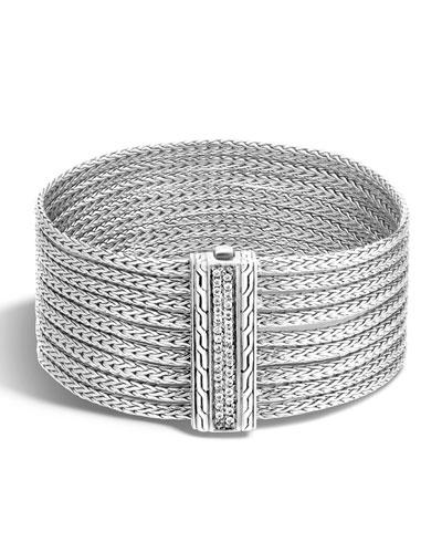 Classic Chain Nine-Row Diamond Bracelet