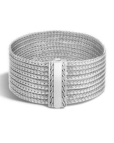 Classic Chain Nine-Row Sterling Silver Bracelet
