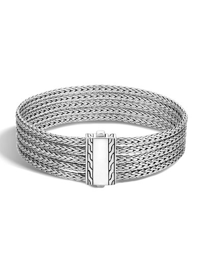 Classic Chain Five-Row Sterling Silver Bracelet