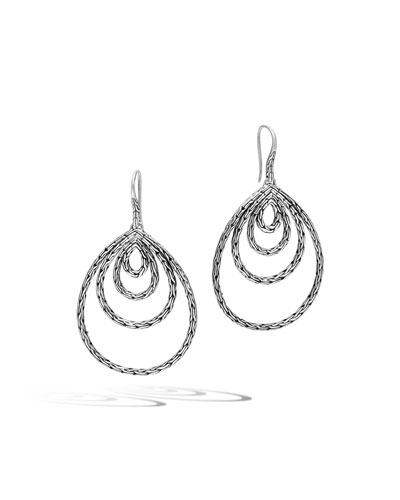 Classic Chain Concentric Drop Earrings