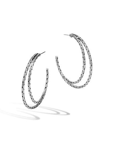 Classic Chain Medium Double-Hoop Earrings