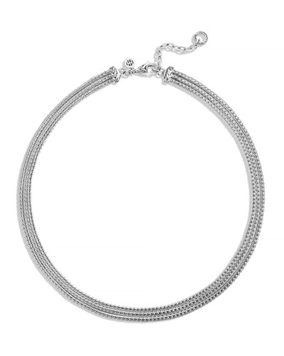 Classic Chain Three-Row Necklace