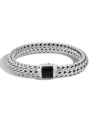 Large Batu Classic Chain Onyx Bracelet