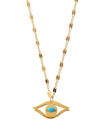 Beyah Turquoise Evil Eye Pendant Necklace