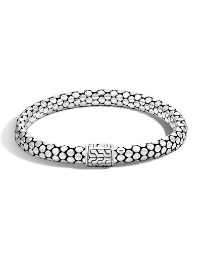 Dot Silver Small Chain Bracelet