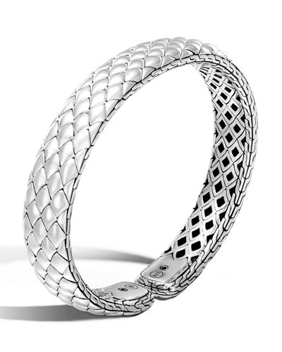 Cobra Legends Sterling Silver Flex Cuff Bracelet