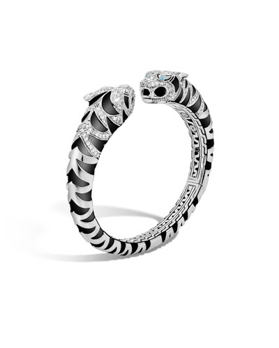 Legends Macan Tiger Lava Small Diamond Kick Cuff Bracelet