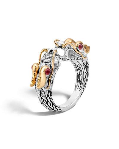 Legends Naga 18K Gold & Silver Ring