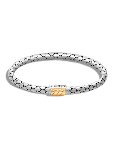 Dot Slim Sterling Silver Bracelet