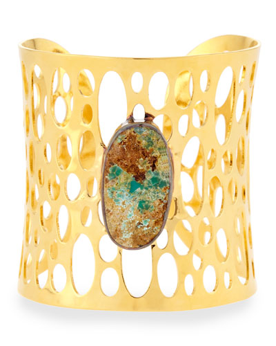 Cutout Stone Cuff Bracelet