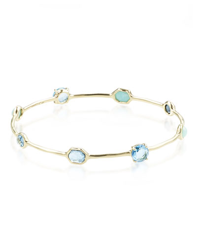 18K Rock Candy Eight-Stone Bangle in Waterfall