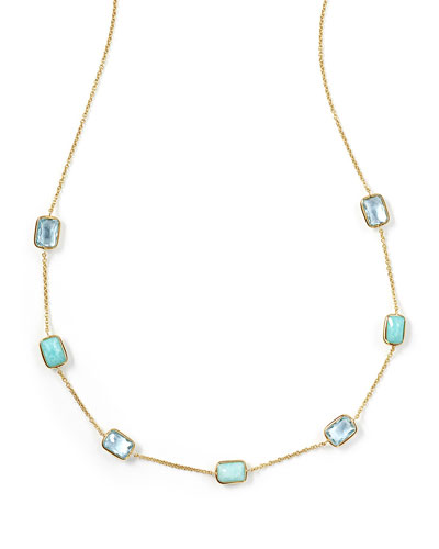 18K Rock Candy® Mini Gelato Station Necklace, Waterfall