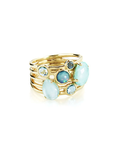 18k Gold Rock Candy Gelato 6-Stone Cluster Ring in Waterfall, Size 7 ...