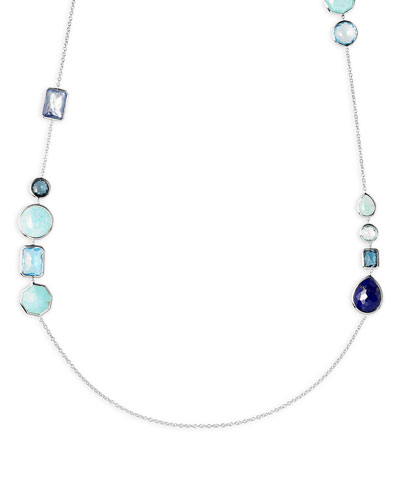 Rock Candy 18K Gold Multi-Stone Chain Necklace in Waterfall