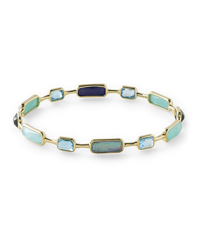 18K Rock Candy 12-Stone Bangle in Waterfall