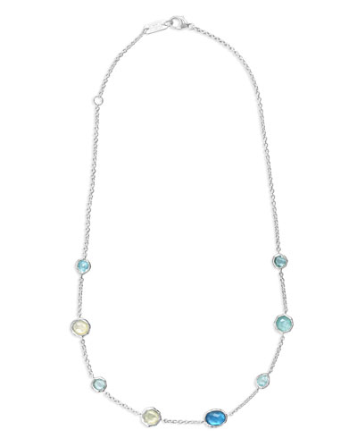 Sterling Silver Wonderland Mini Gelato Short Station Necklace in Blue Star, ...