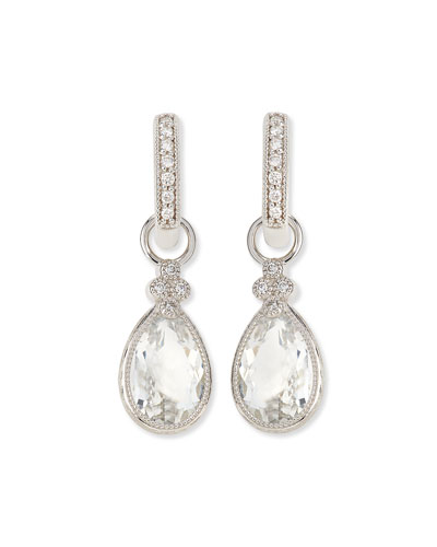 Pear Provence White Topaz & Diamond Earring Charms