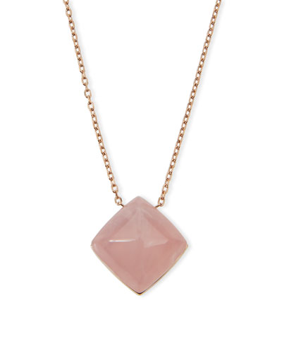 Pyramid Pendant Necklace, Rose Golden