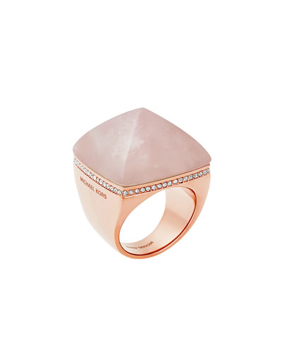 Pyramid Statement Ring, Blush/Rose Golden