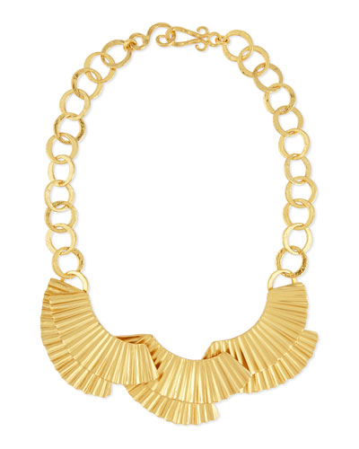 Basin Crimped 24K Collar Necklace
