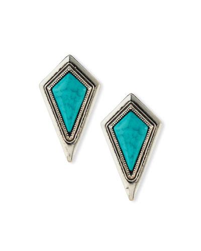 Diamond-Shape Stud Earrings