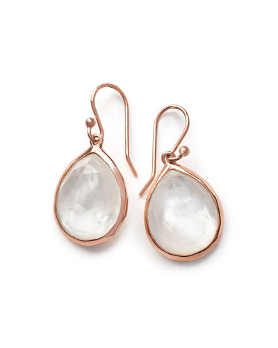 Wonderland Rosé Teardrop Earrings in Quartz Doublet