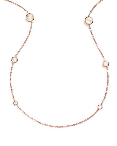 Rosé Rock Candy Round Station Necklace