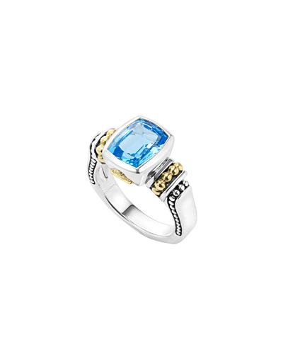 Glacier 10mm Blue Topaz Ring, Size 7