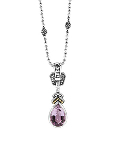 Rose de France Amethyst Pendant Necklace