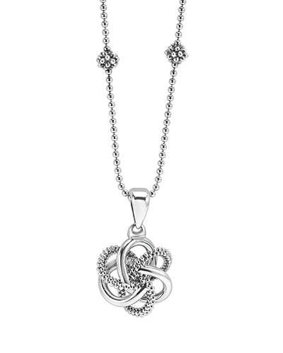 Love Knot 18mm Two-Strand Station Necklace