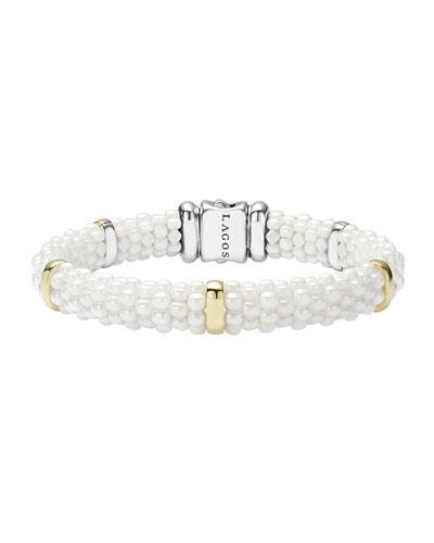 Ceramic 9mm Pearl Caviar Bracelet