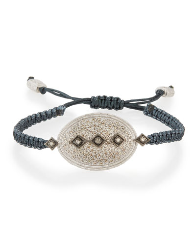 New World Midnight Pavé Diamond Pull-Cord Bracelet