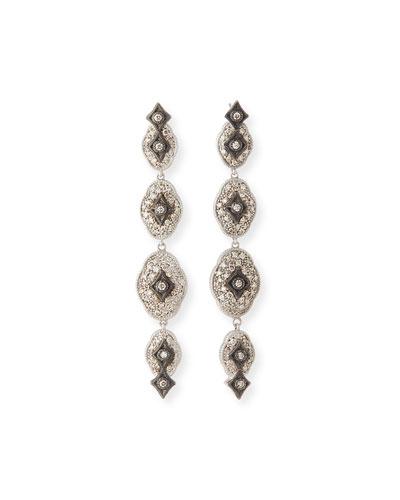 New World Midnight Linear Crivelli Drop Earrings