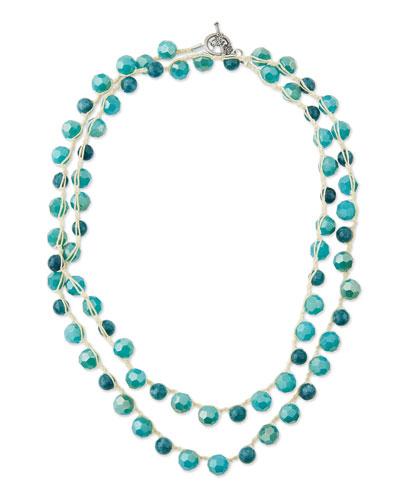 Jasper Bead Crocheted Necklace, 44