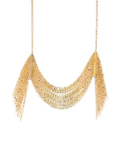 Draping 14K Gold Fringe Necklace