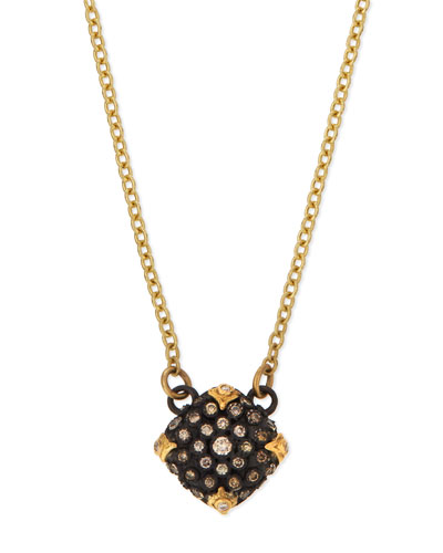 Old World Midnight Pavé Diamond Cushion Necklace