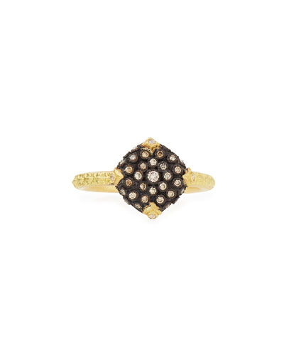 Old World Pavé Diamond Cushion Ring